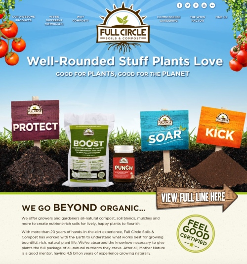 Come on over and visit the all new Full Circle Soils & Compost with awesome composting information and products!